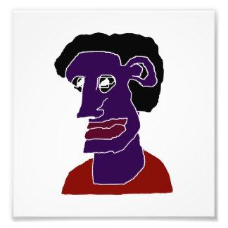 Man Portrait Caricature Photographic Print