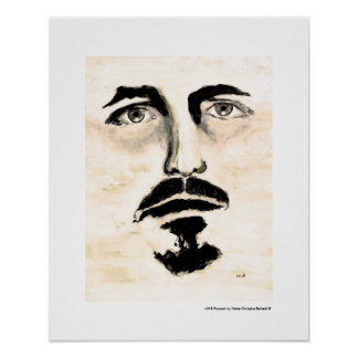 Man Portrait Fine Art Figurative Painting Poster