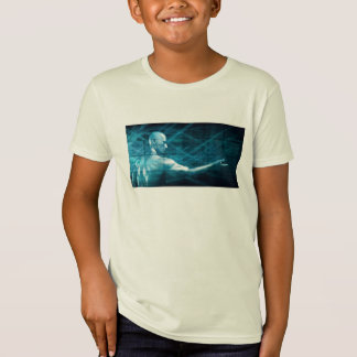 Man Presenting a Concept as a Template Background T-Shirt