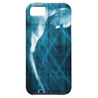 Man Presenting a Concept as a Template Background Tough iPhone 5 Case