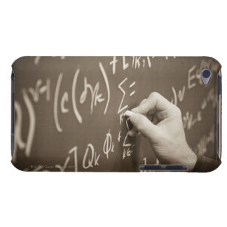 Man printing math equations on a chalkboard barely there iPod covers