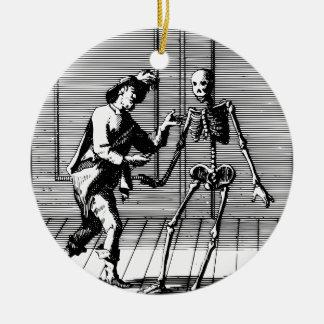 Man Proposing to a Skeleton Ceramic Ornament