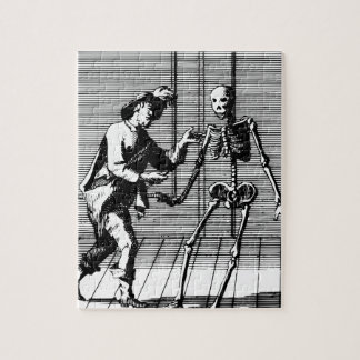 Man Proposing to a Skeleton Jigsaw Puzzle