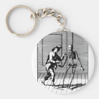 Man Proposing to a Skeleton Key Ring