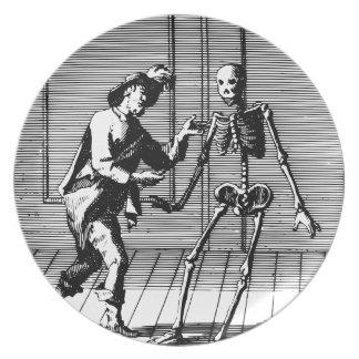 Man Proposing to a Skeleton Plate