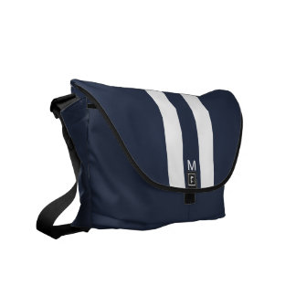 Man Racing Stripe Messenger Bag