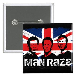 Man Raze Union Jack Black Square Button