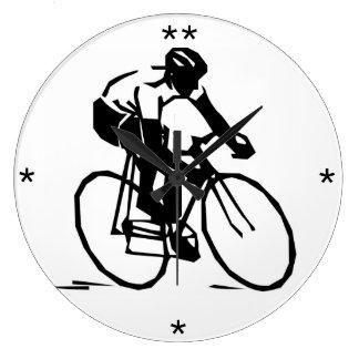 Man Riding a Bicycle - Custom Clock
