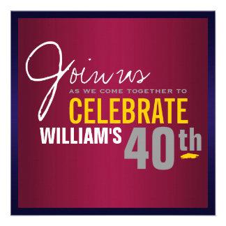 Man s 40th Birthday Invitation