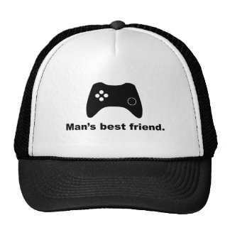 Man's Best Friend Funny Gamer Mesh Hat