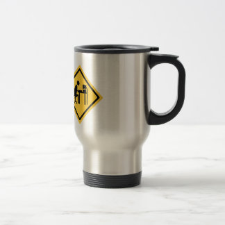Man Sat at a Computer Stainless Steel Travel Mug