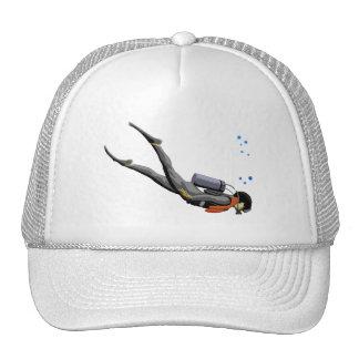 Man SCUBA Diving Cap