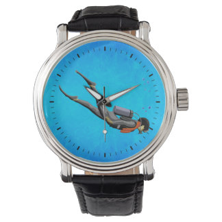 Man SCUBA Diving Wristwatches