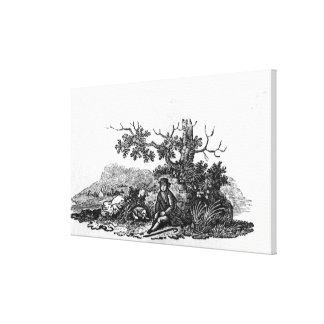 Man Seated by a Stunted Tree Canvas Prints