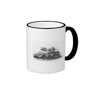Man Seated by a Stunted Tree Ringer Coffee Mug