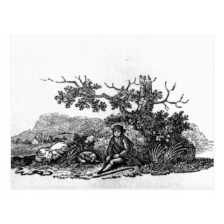 Man Seated by a Stunted Tree Postcard