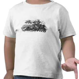 Man Seated by a Stunted Tree Tee Shirts