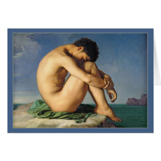 Man Seated by the Sea by Flandrin Card