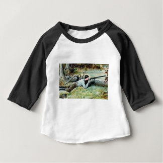 man shoot over a log baby T-Shirt
