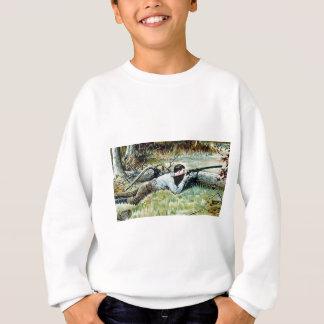 man shoot over a log sweatshirt