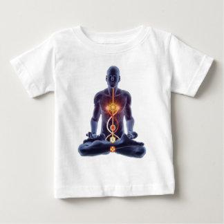 Man silhouette in enlightened yoga meditation pose baby T-Shirt