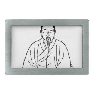 Man Sitting in Meditation Pose Belt Buckles