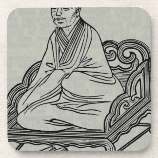 Man sitting in Meditation Pose Coaster