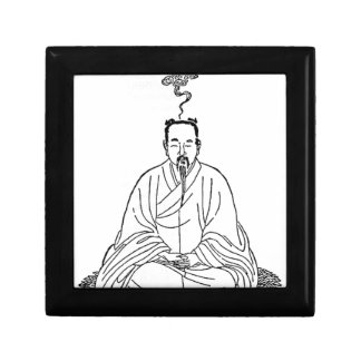 Man Sitting in Meditation Pose Gift Box