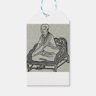 Man sitting in Meditation Pose Gift Tags