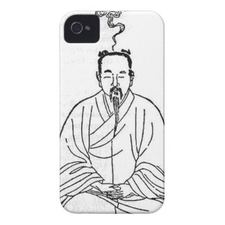 Man Sitting in Meditation Pose iPhone 4 Cases