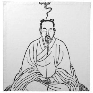 Man Sitting in Meditation Pose Napkin