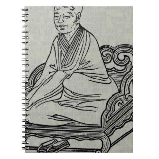 Man sitting in Meditation Pose Notebooks