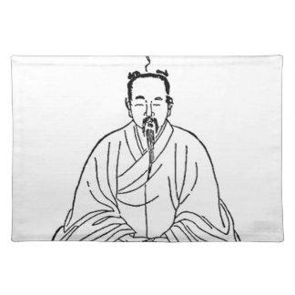 Man Sitting in Meditation Pose Placemat