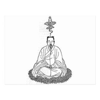 Man Sitting in Meditation Pose Postcard