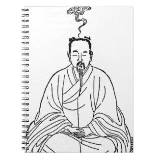 Man Sitting in Meditation Pose Spiral Notebook
