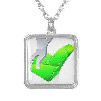 Man sitting on a tick pendants