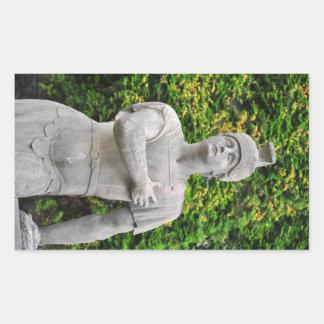 Man statue sticker