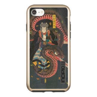 Man Summons Snake- Japanese Woodblock Print Incipio DualPro Shine iPhone 8/7 Case