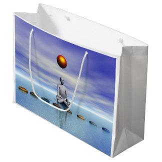 man sun and steps planets large gift bag
