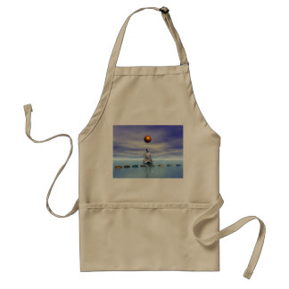 man sun and steps planets standard apron