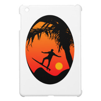 Man Surfing at Sunset Graphic Illustration Case For The iPad Mini