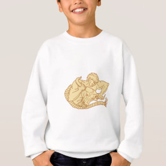 Man Taking Bull By Horns Drawing Sweatshirt