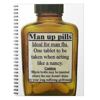 Man Up Pills Spiral Notebook