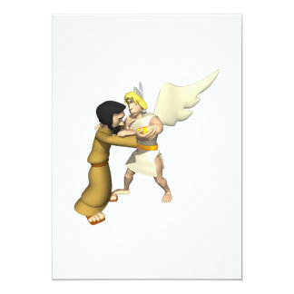 Man vs Angel 13 Cm X 18 Cm Invitation Card