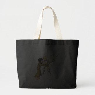 Man vs Angel Tote Bags