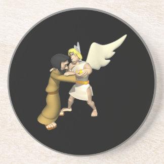 Man vs Angel Beverage Coaster