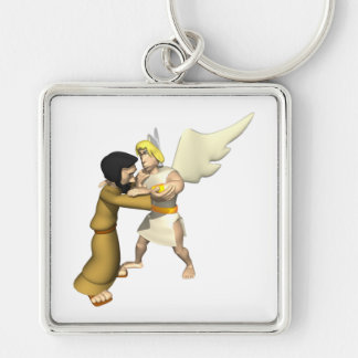 Man vs Angel Key Chain