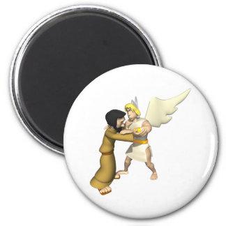 Man vs Angel Fridge Magnets