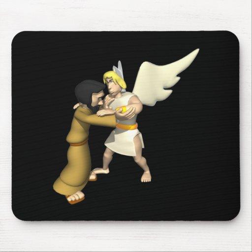 Man vs Angel Mousepads