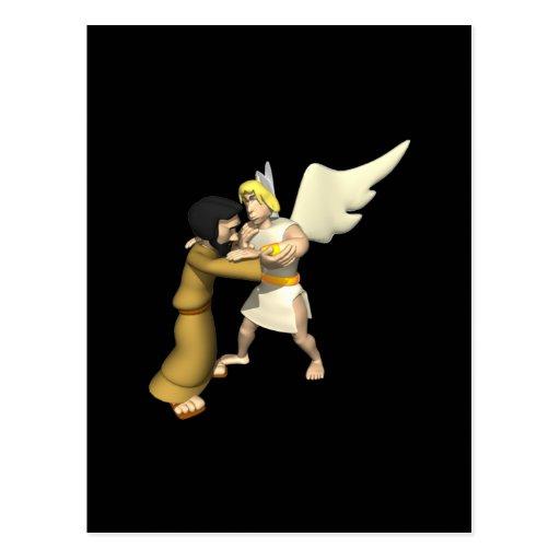 Man vs Angel Postcard